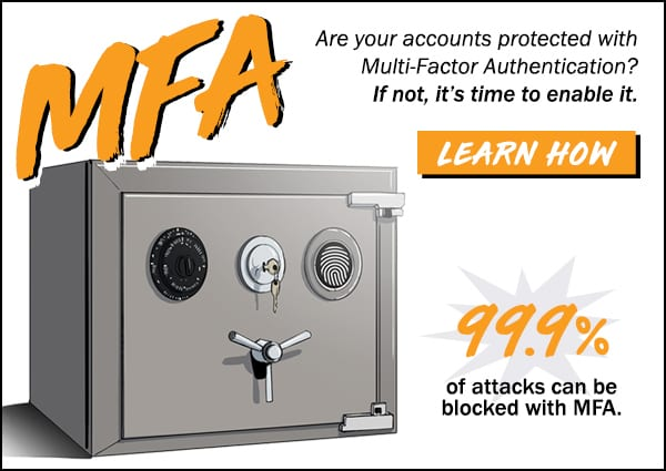 Protect your accounts with MFA Multi Factor Authentication 2FA in Lafayette Indiana